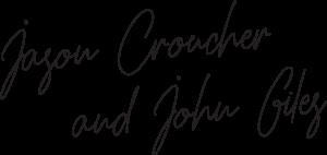 Jason Croucher and John Giles